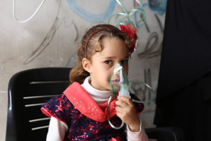 syria girl clinic attack