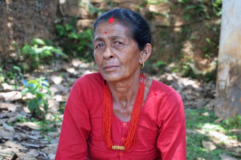 Chunumaya, a survivor of the massive earthquake in Nepal