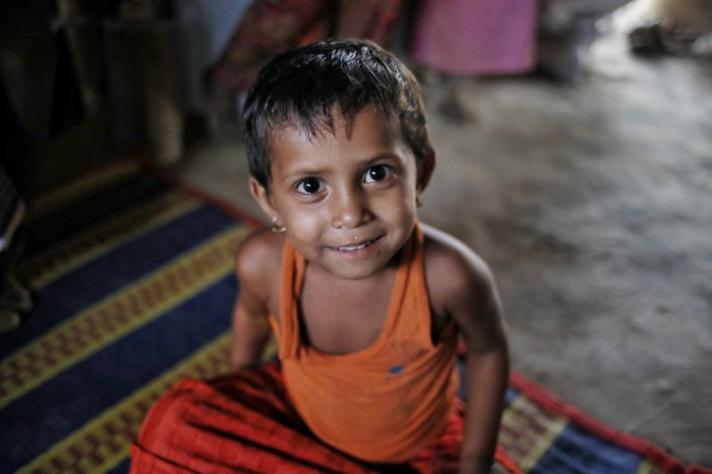 Somira, a Rohingya refugee, received medical care for a respiratory infection