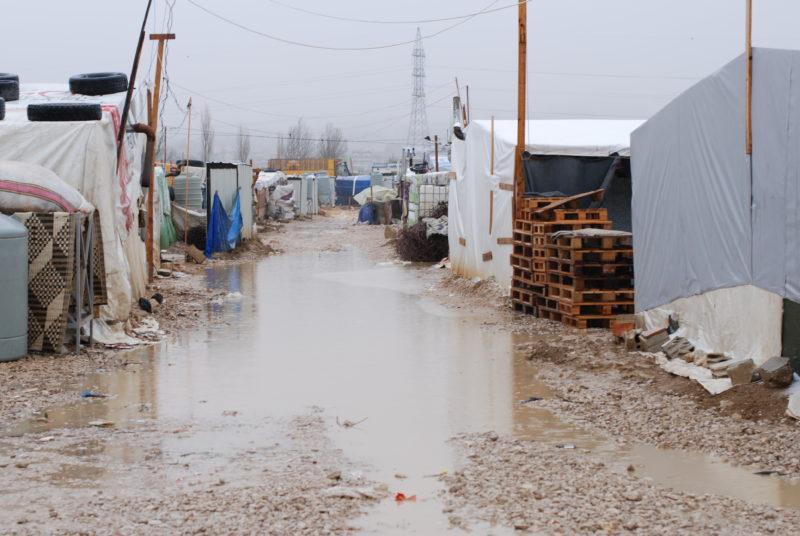 A refugee settlement in the Bekaa Valley, Lebanon
