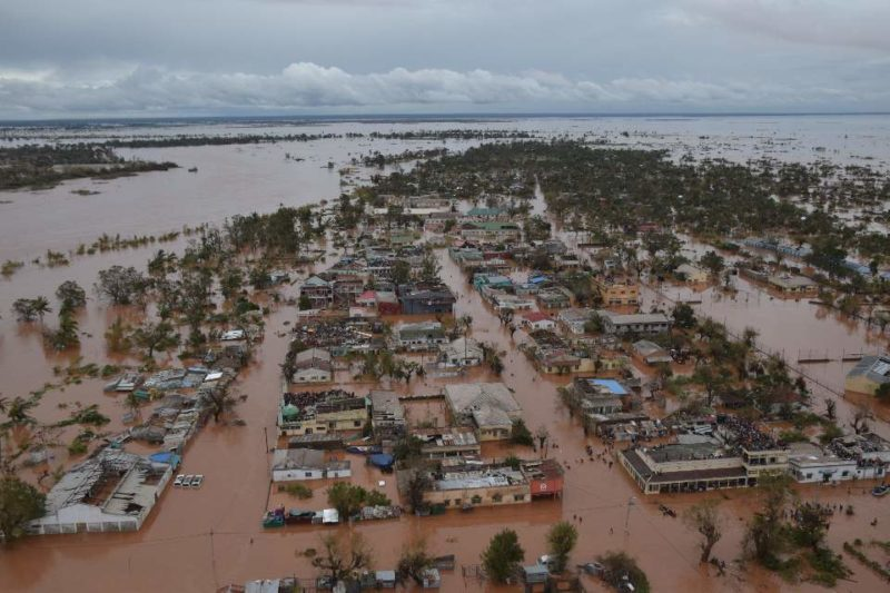 Cyclone Idai smashed through Mozambique, causing extensive flooding of homes in the low-lying areas
