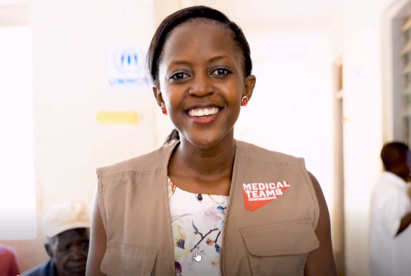 Racheal, a Medical Teams Program Manager, brings medical care to Uganda refugees
