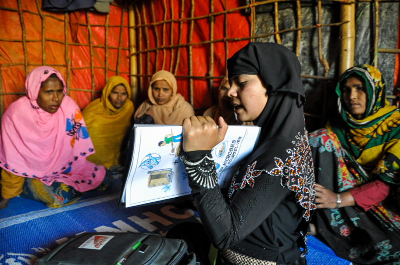 Community Health Worker, Morjan, works in the refugee camp in Bangladesh 2018