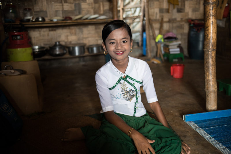 Maisara, a Rohingya refugee community health worker who teaches others about mental health