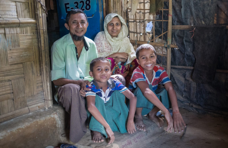Harun and his family receive the care they need to stay healthy in the Kutupalong Refugee Camp in Bangladesh