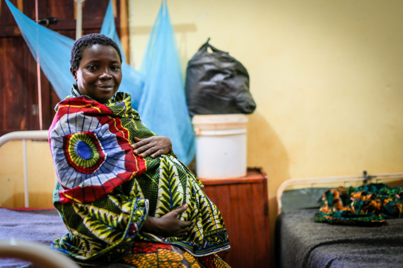 Odetta, a Tanzania refugee, being monitored for her pregnancy at a Medical Teams clinic