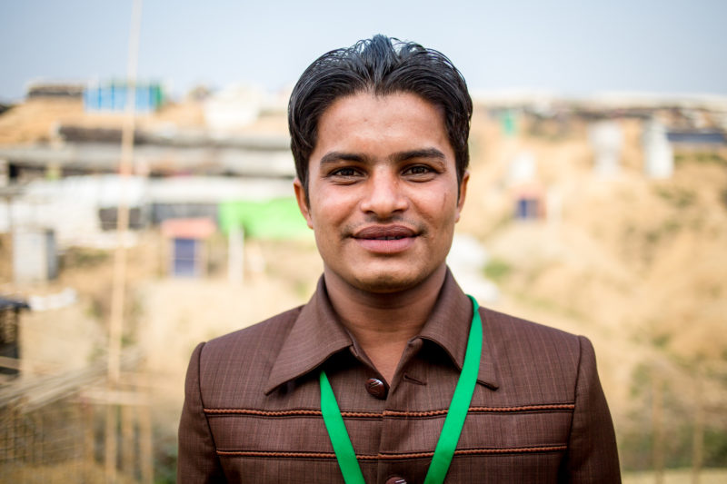 Redwan, working as a Community Health Worker in the Kutupalong Refugee Camp of Bangladesh