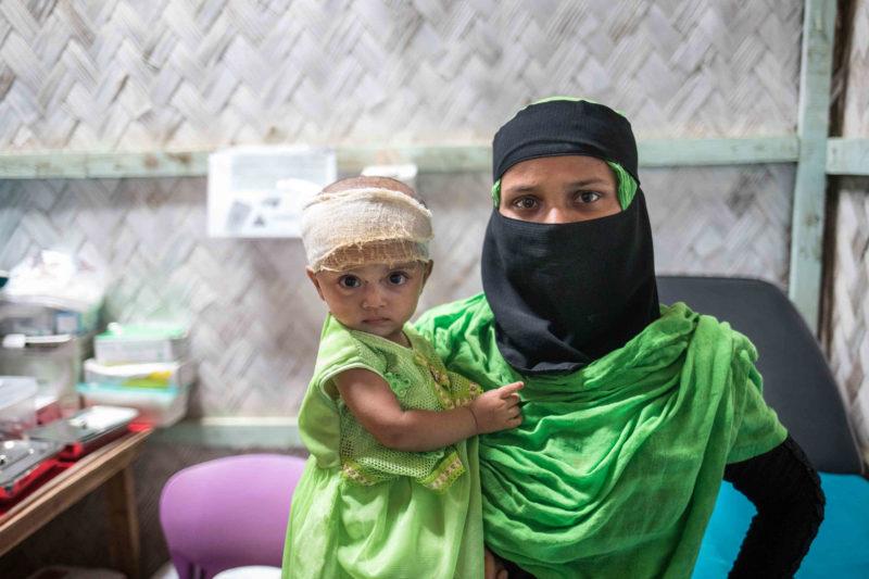 Baby, Asma Bibi and mother Shomsum in Bangladesh.