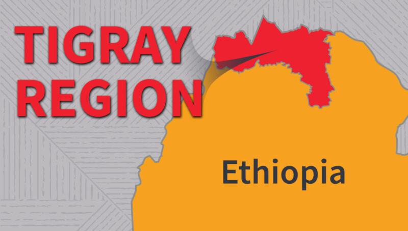 Tigray Region, Ethiopia map